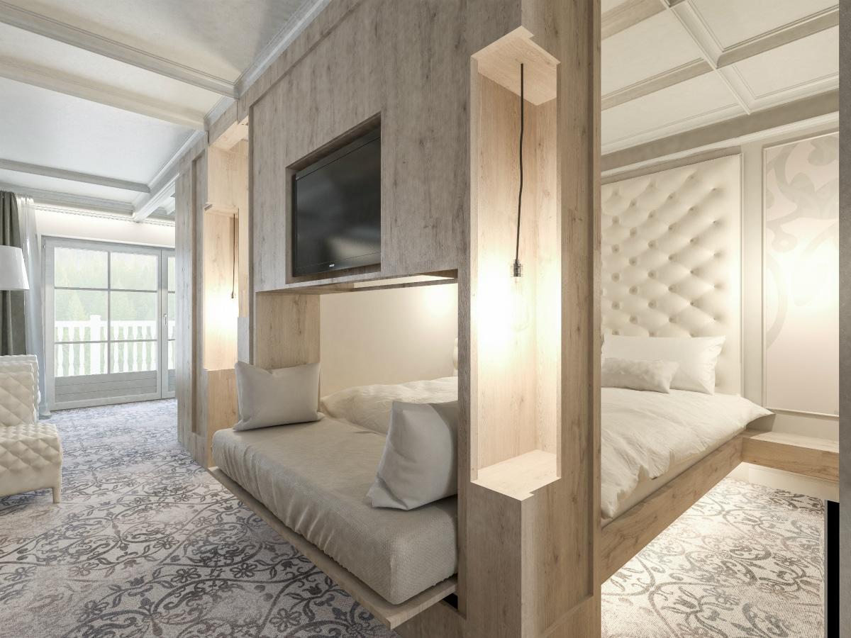 Family hotel in alto adige cavallino bianco family spa for Nuove case con suite suocera