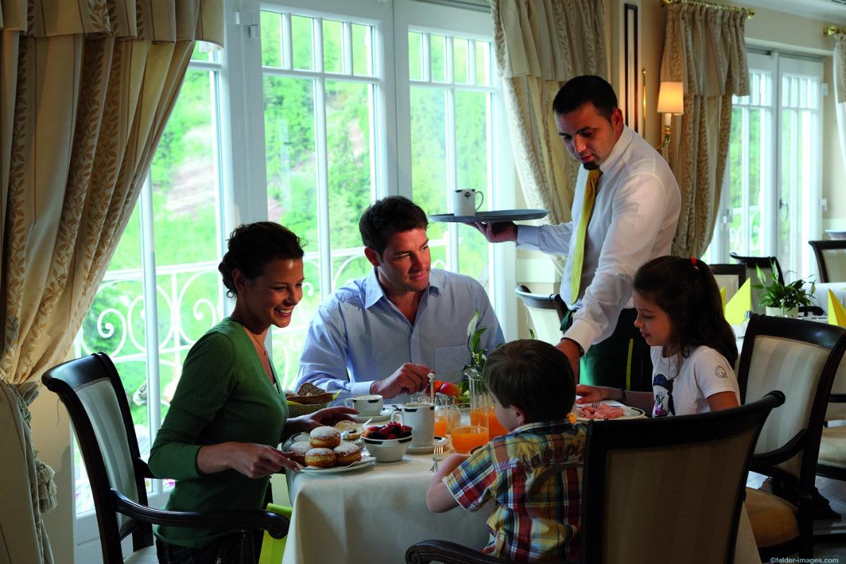 Family hotel in Alto Adige, Cavallino Bianco Family Spa Grand Hotel, ristorante