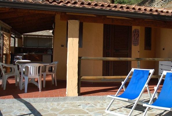 villaggi sul mare nel Cilento, Resort Baia del silenzio, sistemazioni