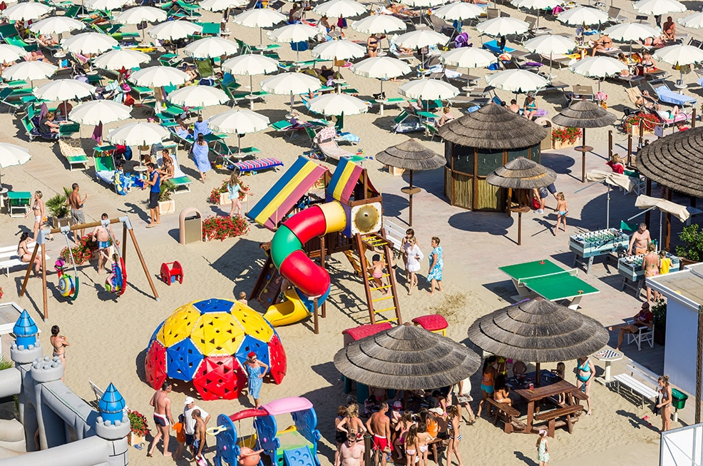 Hotel a Milano Marittima per famiglie, Beach Hotel Apollo, spiaggia