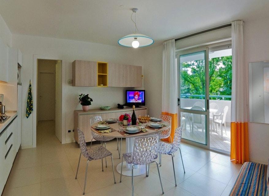 Residence a Bibione per bambini: Serenissima Residence, angolo cottura
