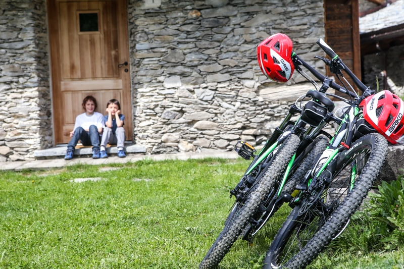 Baite in Piemonte per vacanze: Borgata Sagna Rotonda, spazi verdi