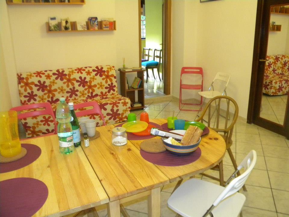 Alla casetta di Roma, casa vacanze per famiglie, sala