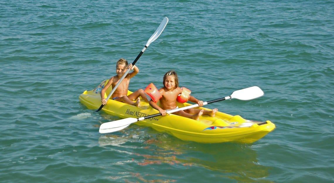 Family Hotel a Jesolo sul mare: Hotel Nettuno, canoa