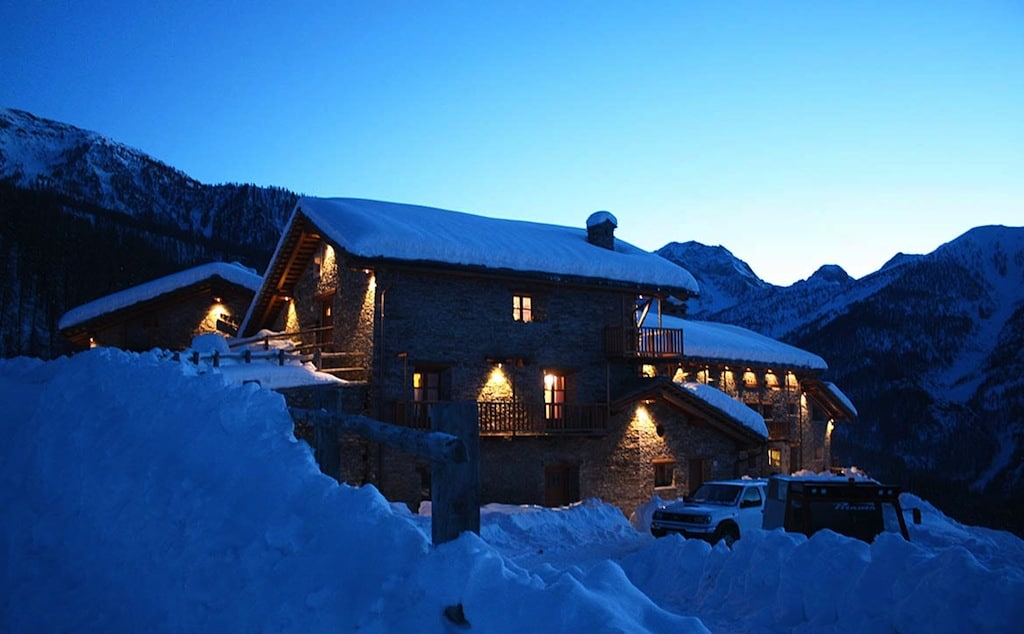 Baite in Piemonte per vacanze: Borgata Sagna Rotonda, di inverno
