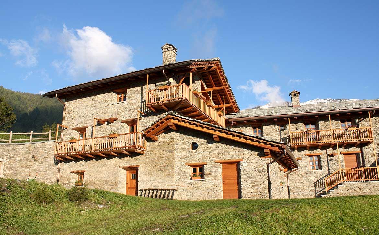 Baite in Piemonte per vacanze: Borgata Sagna Rotonda, alloggi tipici