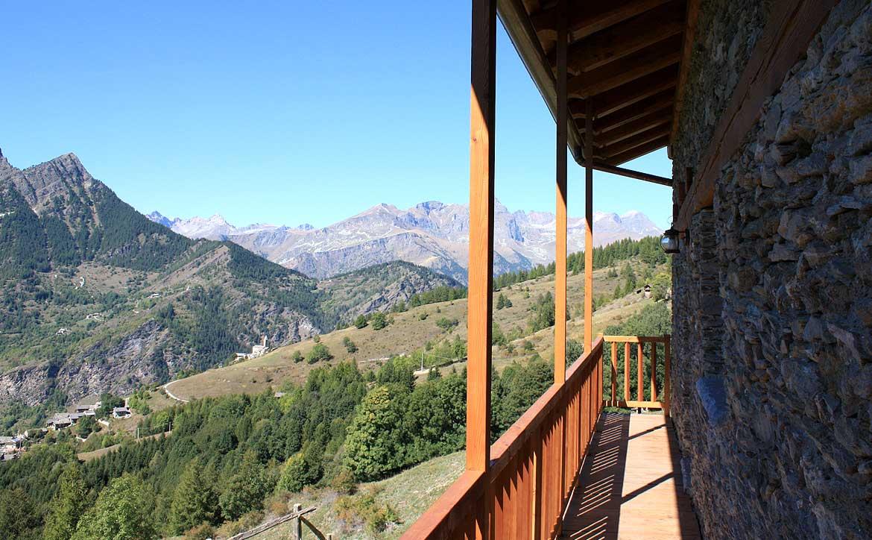 Baite in Piemonte per vacanze: Borgata Sagna Rotonda, la vista