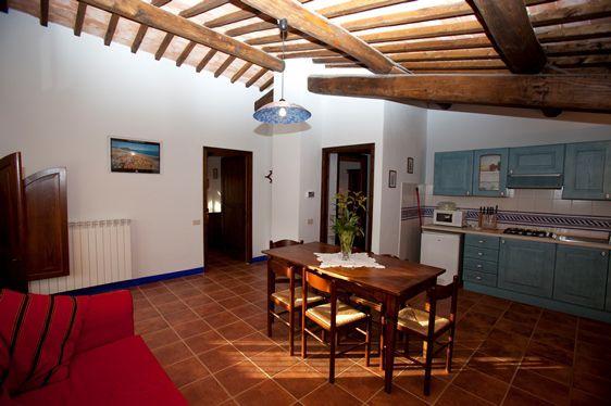 Agriturismo con maneggio Siena, Podere Tremulini, sala cucina