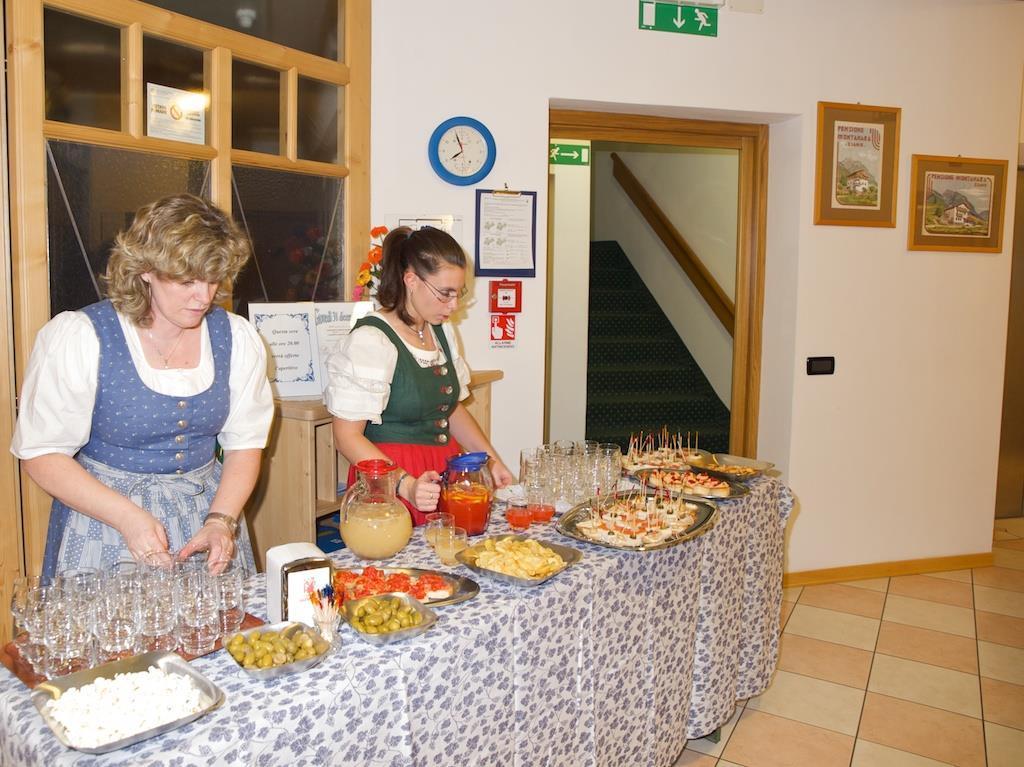 Hotel in Val di Fiemme per famiglie, Hotel La Montanara, giardino, buffet