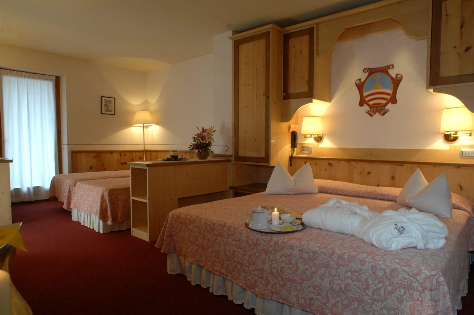 Hotel La Roccia Trentino, Val di Fiemme, camere