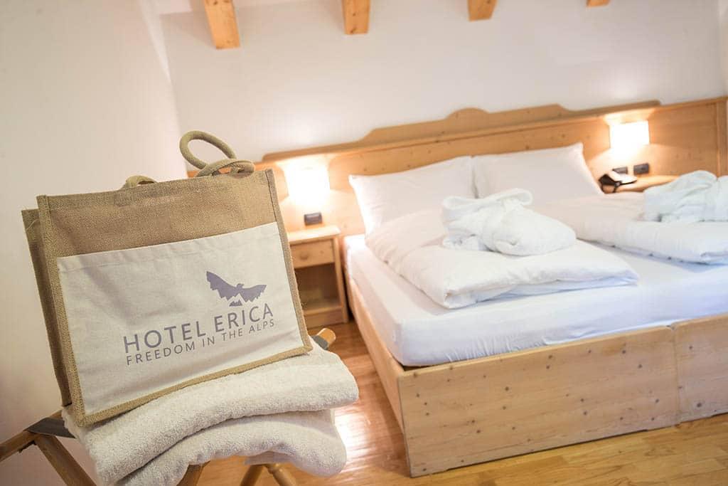 Hotel per famiglie in val di fiemme, Hotel Erica, camera
