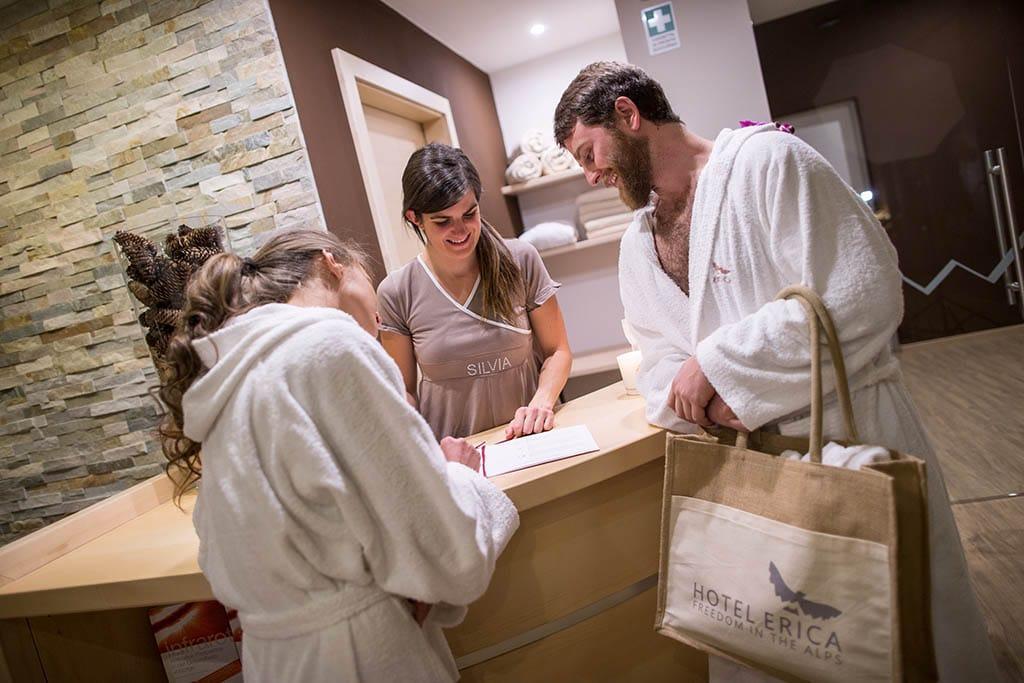 Hotel per famiglie in val di fiemme, Hotel Erica, benessere