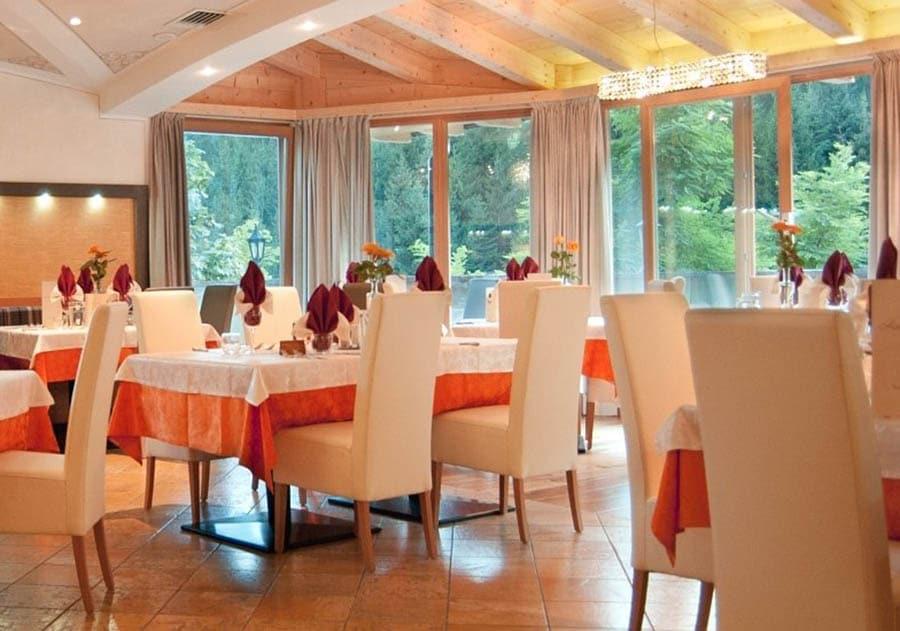 Hotel per famiglie in val di fiemme, Hotel Erica, ristorante