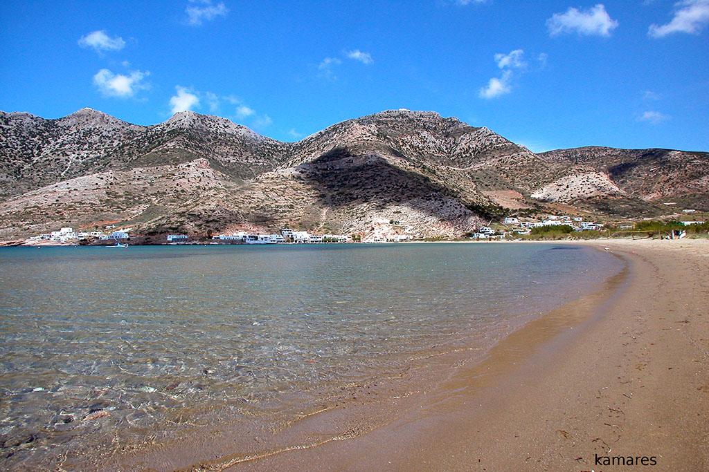 casa vacanze per bambini a Sifnos, Cicladi, Grecia. Spiaggia di Kamares