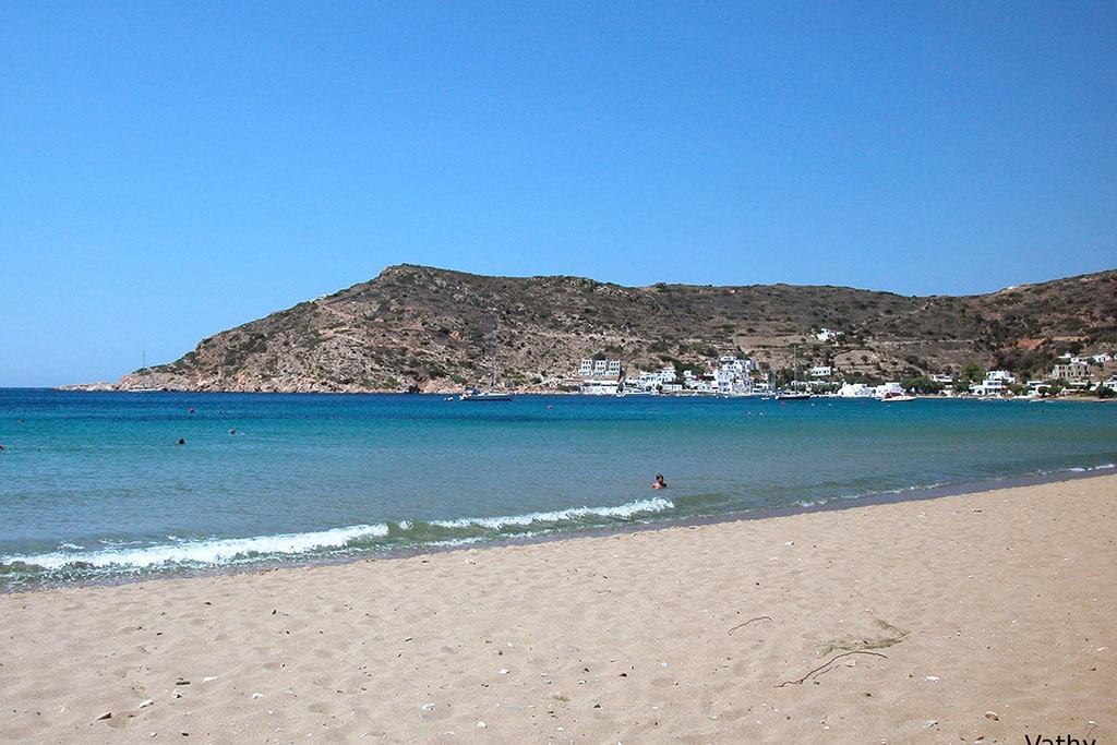 casa vacanze per bambini a Sifnos, Cicladi, Grecia. Spiaggia di Vathy