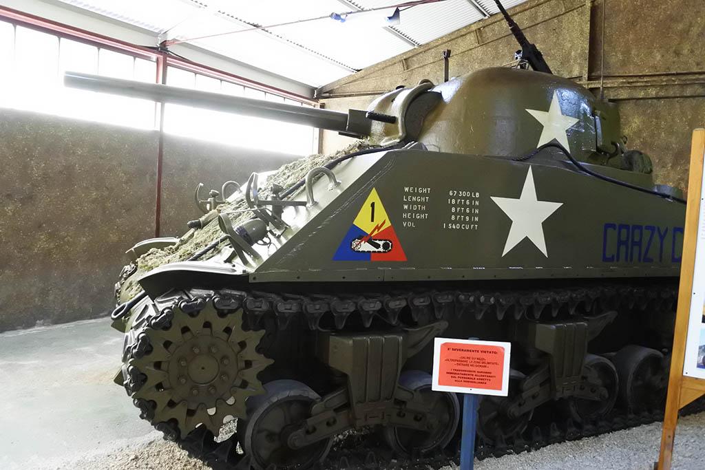 Parco Museo Piana delle Orme a Latina, carro armato