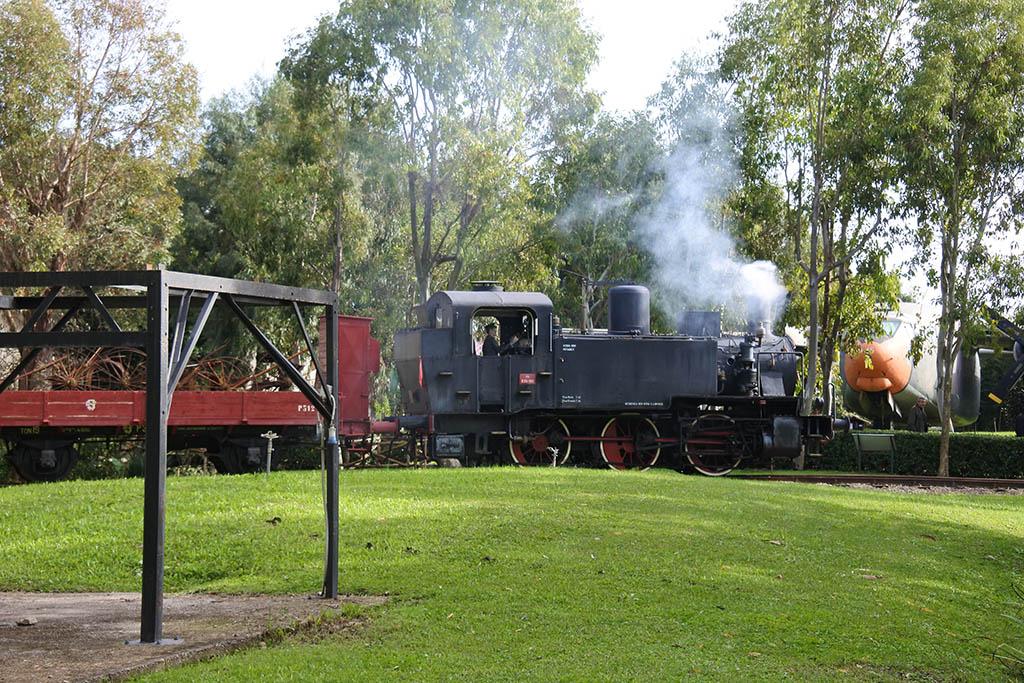 Parco Museo Piana delle Orme a Latina, treno a vapore