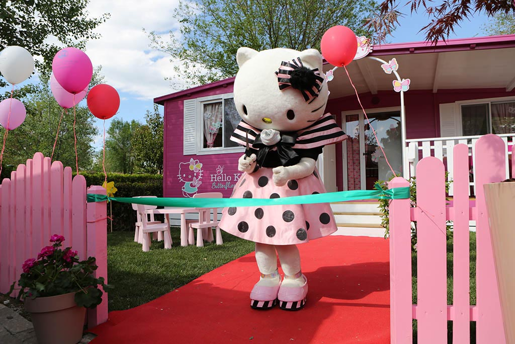 Villaggi per bambini a Roma I Pini Family Park casa Hello Kitty