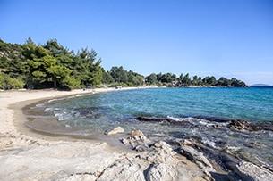 Calcidica con bambini, spathies beach sithonia