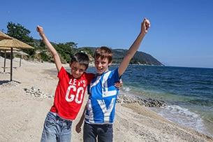 Calcidica con bambini, spiaggia Ouranopoli