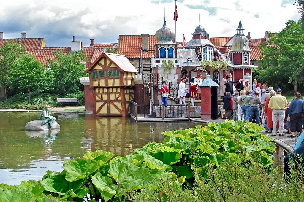 The fairytale castle where the Hans Christian Andersen Parade performs.