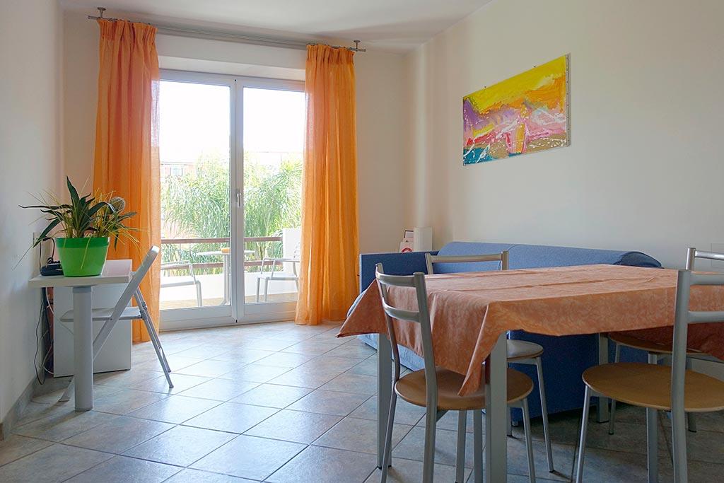 Residence per famiglie in Liguria, Residence Greco & Linda, soggiorno