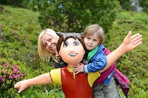 Carinzia sentieri tematici con bambini e passeggini Heidialm