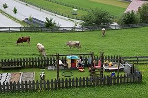 Stubai con bambini, fattoria Roasnhof