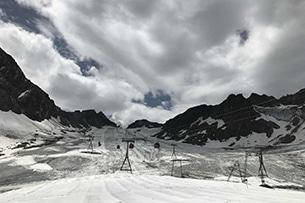 Valle dello Stubai con bambini, ghiacciaio