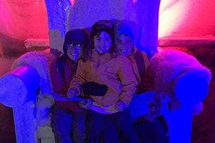 Valle dello Stubai con bambini, grotta di ghiaccio