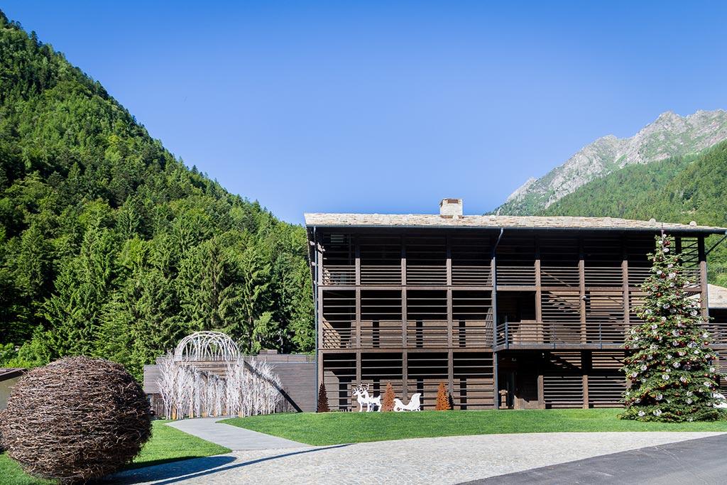 Family hotel Monte rosa, Hotel Mirtillo Rosso, giardino