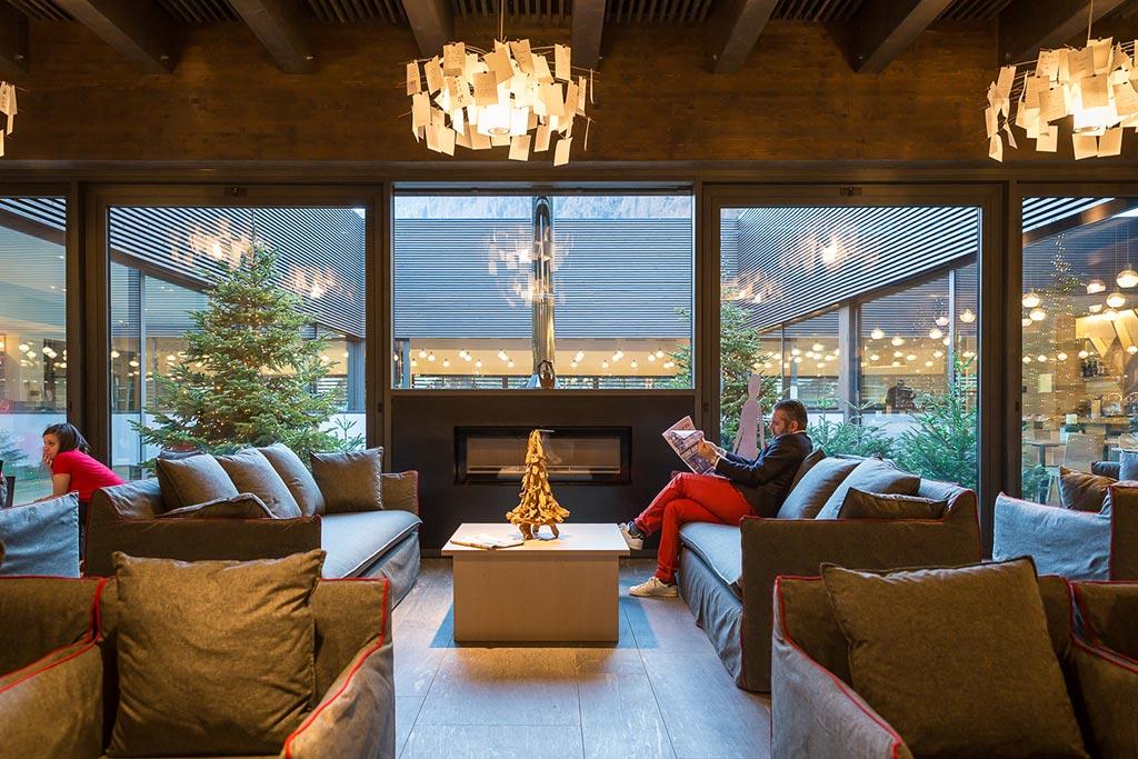 Family hotel Monte rosa, Hotel Mirtillo Rosso, salotto