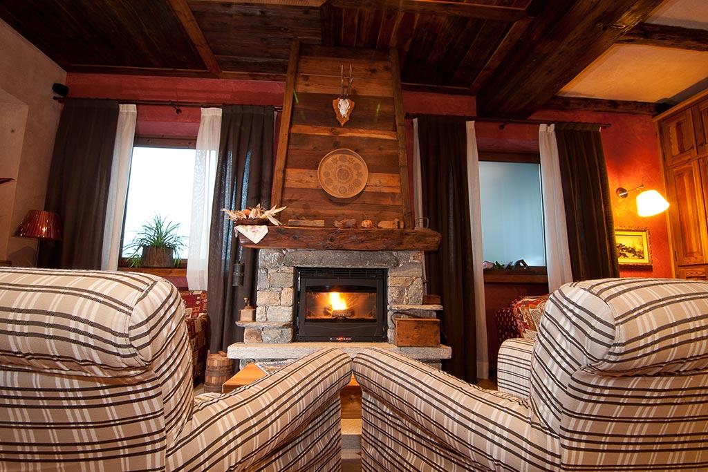 Hotel per famiglie Val d'Aosta, Hotel Zerbion camino