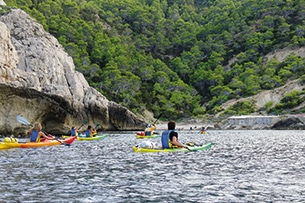 Baleari in autunno, Ibiza kayak