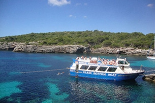 Baleari in autunno, Minorca Glass Bottom Boat