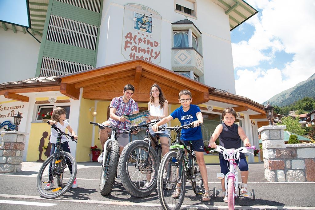 Family hotel Andalo, Hotel Alpino, biciclette famiglia