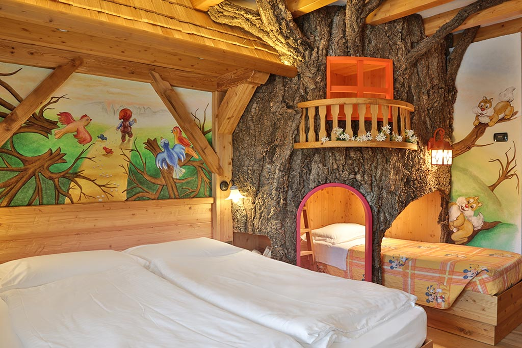 Family hotel Andalo, Hotel Alpino, camere a tema