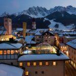 family hotel Cavallino Bianco a San Candido in Val Pusteria, vista invernale