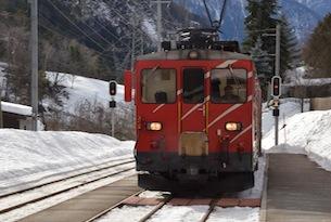 enino rosso Glacier Express