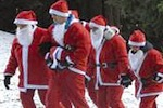Pergine, la corsa di Babbo Natale